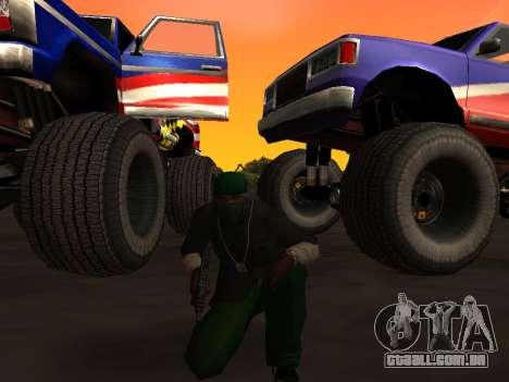 Novas texturas rodas Monstro para GTA San Andreas traseira esquerda vista