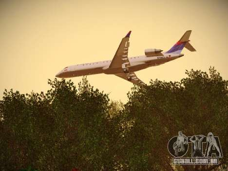 Bombardier CRJ-700 Delta Connection para GTA San Andreas vista interior