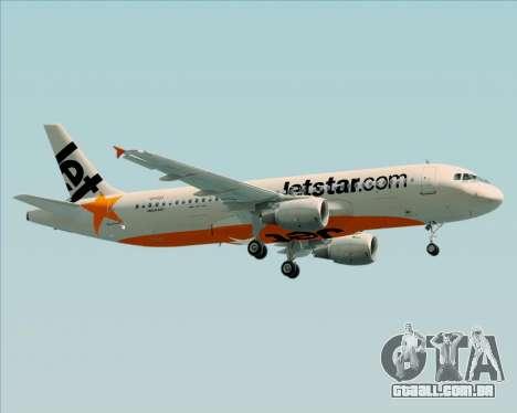 Airbus A320-200 Jetstar Airways para GTA San Andreas vista interior
