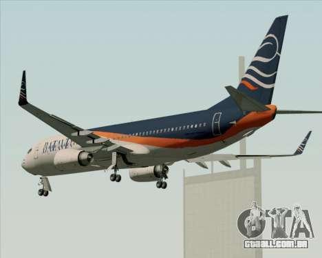 Boeing 737-800 Batavia Air (New Livery) para as rodas de GTA San Andreas