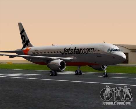 Airbus A320-200 Jetstar Airways para GTA San Andreas esquerda vista