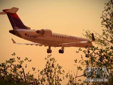 Bombardier CRJ-700 Delta Connection para GTA San Andreas vista traseira