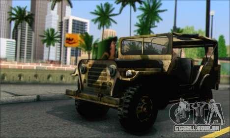 Iguana From Mercenaries 2 World in Flames para GTA San Andreas traseira esquerda vista