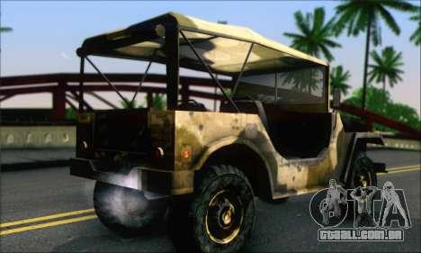 Iguana From Mercenaries 2 World in Flames para GTA San Andreas esquerda vista