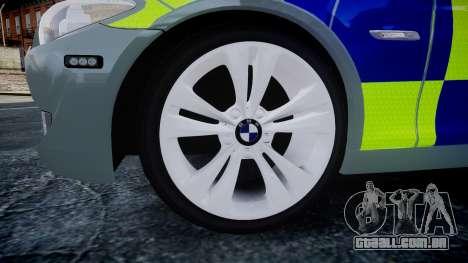 BMW 530d F11 Metropolitan Police [ELS] SEG para GTA 4 vista direita