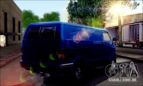 GTA 5 Youga para GTA San Andreas traseira esquerda vista