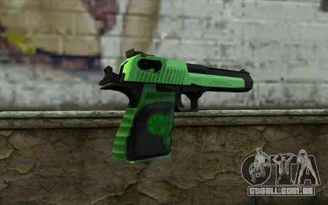 Green Desert Eagle para GTA San Andreas segunda tela
