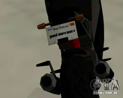 CarbonRS para GTA San Andreas traseira esquerda vista