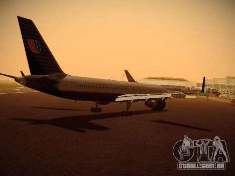 Boeing 757-224 United Airlines para GTA San Andreas vista direita