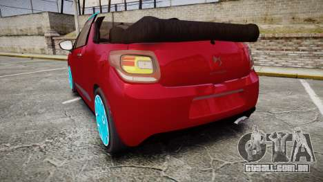 Citroen DS3 Convertible para GTA 4 traseira esquerda vista