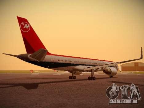 Boeing 757-251 Northwest Airlines para GTA San Andreas vista direita