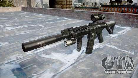 Máquina Tático M4A1 CQB alvo para GTA 4