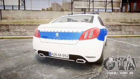 Peugeot 508 Republic of Srpska [ELS] para GTA 4 traseira esquerda vista