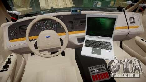 Ford Crown Victoria LASD [ELS] Slicktop para GTA 4 vista de volta