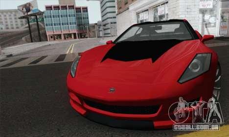 GTA 5 Invetero Coquette para GTA San Andreas traseira esquerda vista