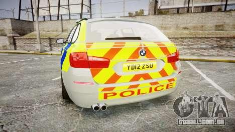 BMW 530d F11 Metropolitan Police [ELS] para GTA 4 traseira esquerda vista