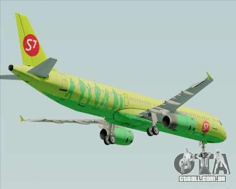 Airbus A321-200 S7 - Siberia Airlines para GTA San Andreas vista direita