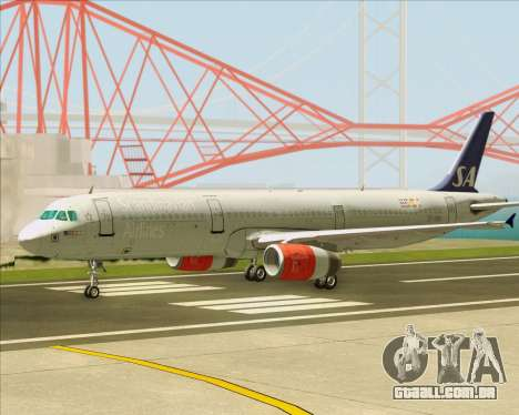 Airbus A321-200 Scandinavian Airlines System para GTA San Andreas vista interior