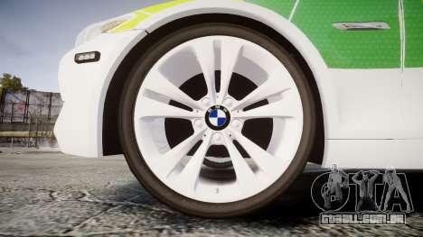 BMW 530d F11 Ambulance [ELS] para GTA 4 vista de volta