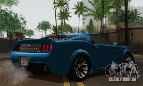 GTA 5 Dominator para GTA San Andreas esquerda vista