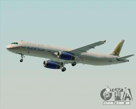 Airbus A321-200 Gulf Air para GTA San Andreas vista traseira