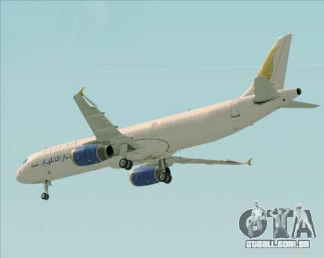 Airbus A321-200 Gulf Air para as rodas de GTA San Andreas