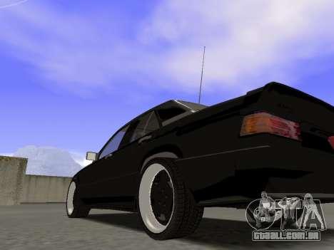 A Mercedes-Benz 190E 3.2 AMG para GTA San Andreas esquerda vista