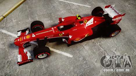 Ferrari F138 v2.0 [RIV] Massa TSSD para GTA 4 vista direita