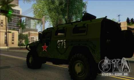 GAZ Tigre 2975 para GTA San Andreas esquerda vista