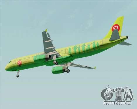 Airbus A321-200 S7 - Siberia Airlines para vista lateral GTA San Andreas