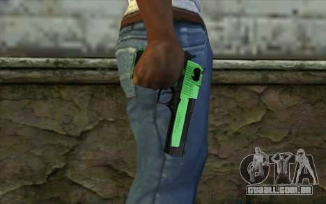 Green Desert Eagle para GTA San Andreas terceira tela