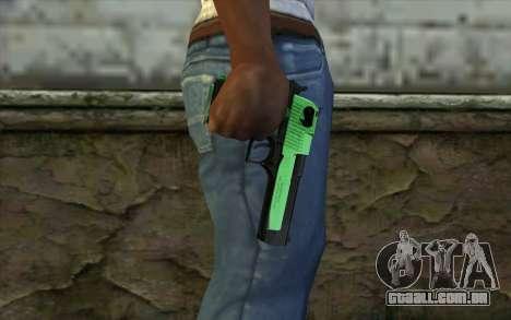 Green Desert Eagle para GTA San Andreas terceira tela