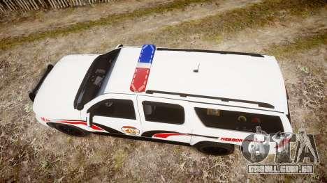 Chevrolet Suburban 2008 Police [ELS] Red & Blue para GTA 4 vista direita