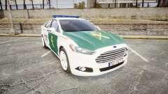Ford Mondeo 2014 Guardia Civil Cops [ELS] para GTA 4