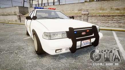 GTA V Vapid Cruiser LSS White [ELS] para GTA 4
