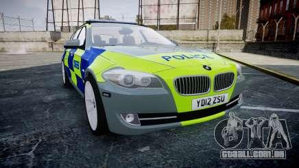 BMW 530d F11 Metropolitan Police [ELS] SEG para GTA 4
