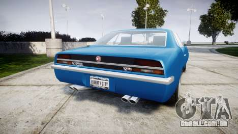 GTA V Declasse Vigero para GTA 4 traseira esquerda vista