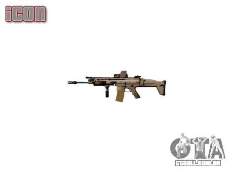 Máquina FN SCAR-L Mc 16 icon2 para GTA 4 terceira tela