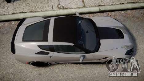Chevrolet Corvette Z06 2015 TireBFG para GTA 4 vista direita