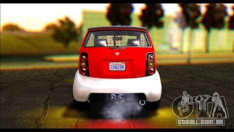 GTA 5 Benefactor Panto IVF para GTA San Andreas traseira esquerda vista