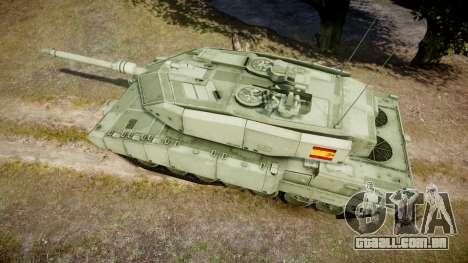 Leopard 2A7 ES Green para GTA 4 vista direita