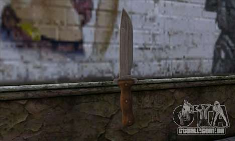 Daryl Knife from The Walking Dead para GTA San Andreas segunda tela