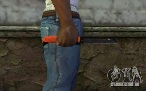 Knife from Battlefield 3 para GTA San Andreas terceira tela