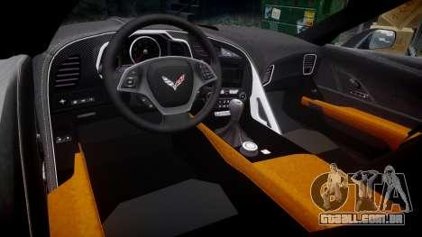 Chevrolet Corvette C7 Stingray 2014 v2.0 TireMi3 para GTA 4 vista interior
