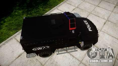 SWAT Van [ELS] para GTA 4 vista direita