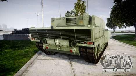 Leopard 2A7 PT Green para GTA 4 traseira esquerda vista