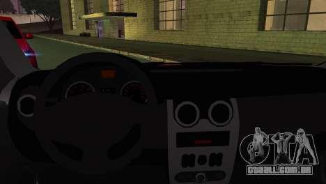 Dacia Logan Kys para GTA San Andreas traseira esquerda vista