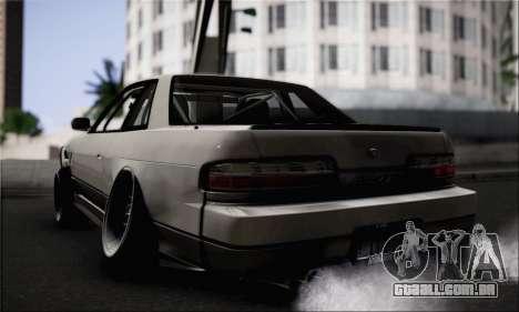 Nissan Silvia S13 Slammed para GTA San Andreas esquerda vista