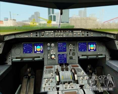 Airbus A340-300 Lufthansa (Star Alliance Livery) para GTA San Andreas interior