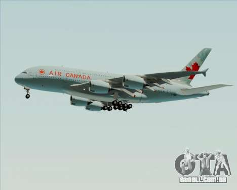 Airbus A380-800 Air Canada para GTA San Andreas vista superior